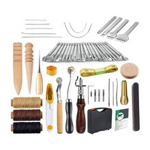 24 25 28 59PCS Leather Craft Tools Kit Hand DIY Sewing Stitching Punch Carving Work Saddle Leathercraft for Leather Working cheap OUTAD Woodworking Combination Case Wood Working Tool Multicolors wood steel 59 28 25 24pcs hand DIY leather working tools kit