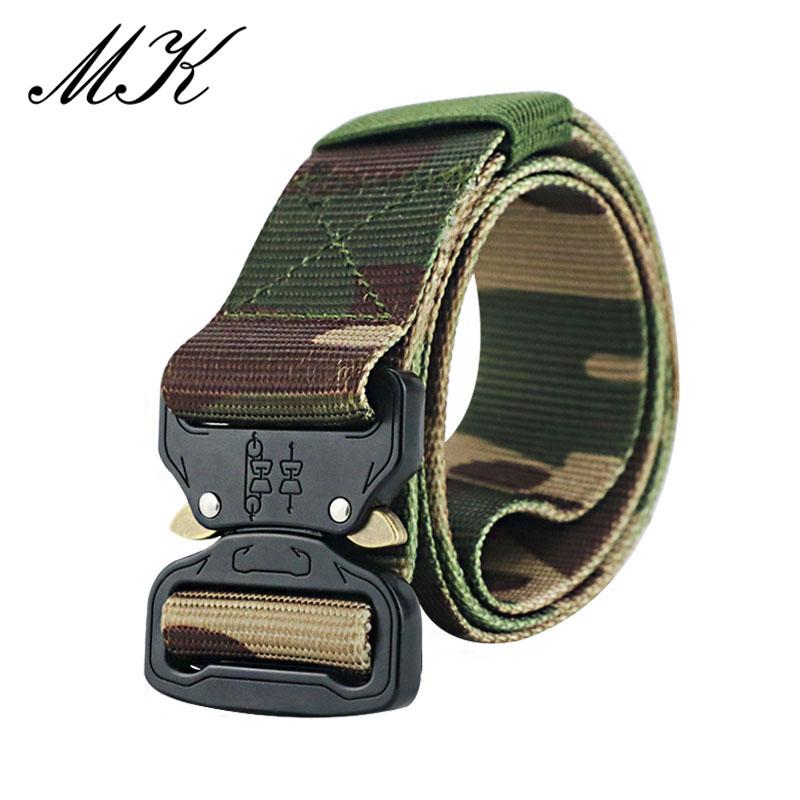 Maikun пояс мужской ремень военное оборудование боевые тактические ремни для мужчин армейский обучений нейлоновый пояс с металлической пряжкой открытый охотничий ремень - Цвет: Camouflage 4