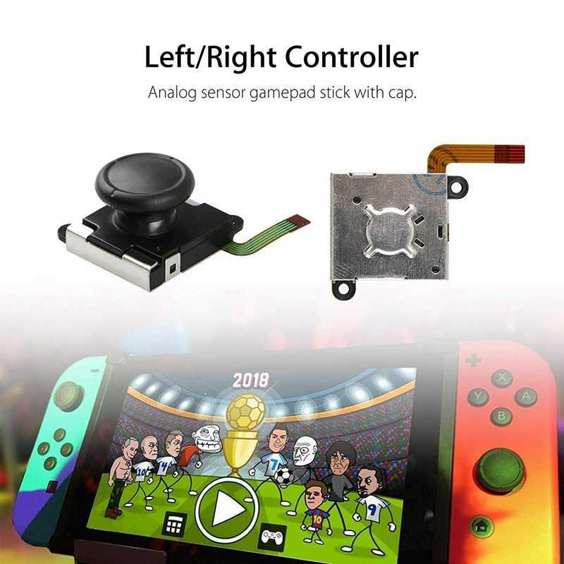 2-Pack 3D Аналоговый джойстик Joycon аналоговая палка для Джойстик-переключатель сменный контроллер Joy-Con палка для большого пальца Замена (2-Pack)