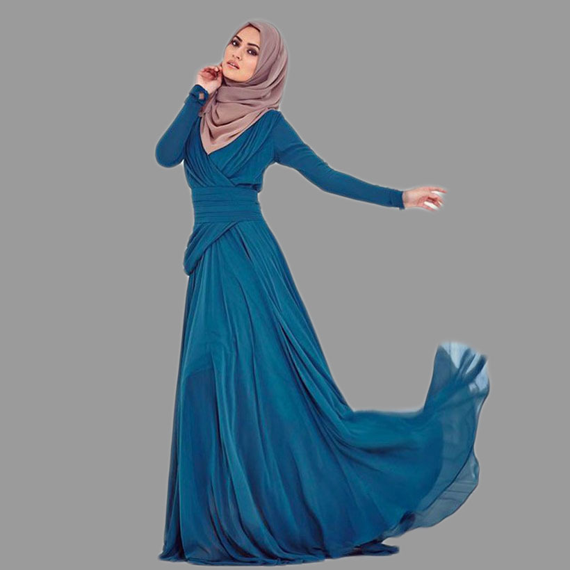 Formal Turkish Women Clothing A-Line Evening Gown Regular Sleeve Floor-Length Islamic Kaftans 2018 Mother Of The Bride Dresses