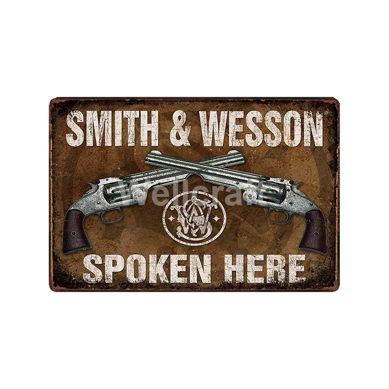 WellCraft GUN DONT CALL 911 Military Wall Plaque Metal Signs art Vintage Painting Personality Custom Decor LT 1824 in Plaques Signs from Home Garden