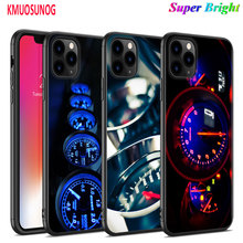 Black Silicone Case Cool Speedometer for iPhone 11 11Pro XS MAX XR X 8 7 6S 6 Plus 5S Gloss Phone Cover