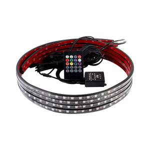 Image 5 - 4x Car Underglow Flexible Strip LED Remote /APP Control RGB LED Strip Under Automobile Chassis Tube Underbody System Neon Light