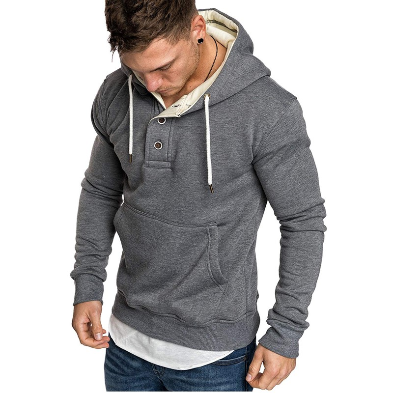 Dropshipping 2019 Autumn Winter Hoodied Sweatshirts Men's Hoodies Solid Fleece Fashion Casual Mens Hoodies Streetwear Moletom