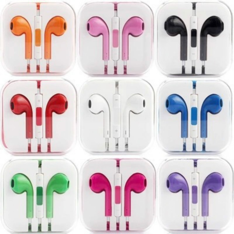 colorful mobile phone earphone 3.5mm handfree phone headset with MIC headphone for iphone earphones