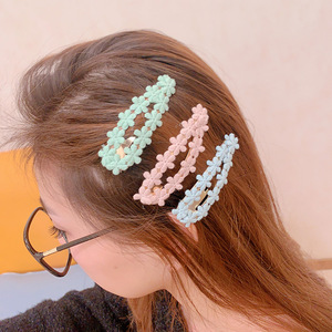 Image 2 - 2 uds./set 2020, Clip para el pelo de primavera y novedad de verano, Color de caramelo coreano, encaje de niña, Clip para el cabello con forma de corazón BB, accesorios para el cabello