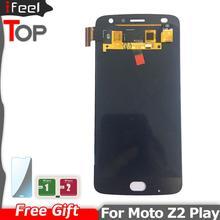 5.5 אינץ סופר AMOLED LCD עבור מוטורולה Moto Z2 לשחק XT1710 01/07/08/10 תצוגת מסך מגע Digitizer עצרת