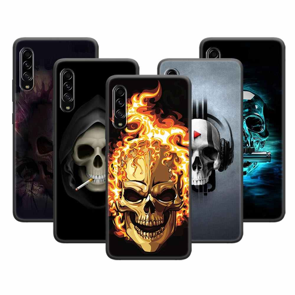 Silicone Soft Case for Samsung Galaxy A10 A20 A20E A30 A40 A50 A70 A21A51 A71 A81 A91 A01 Cover Horror Skull
