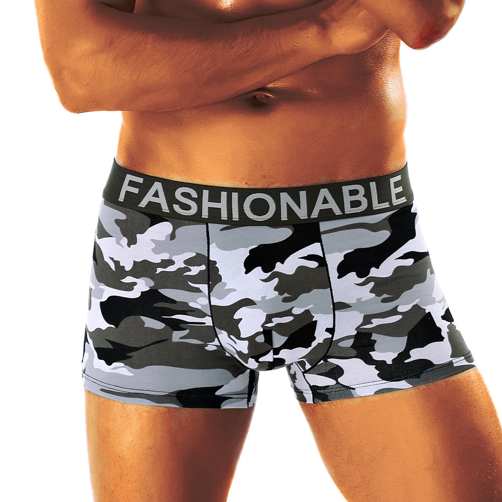 Sexy Underwear Boxer Camouflage Shorts Printed Soft Knickers