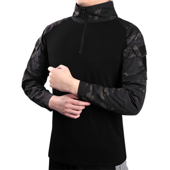 Men's Outdoor Tactical Hiking T-Shirts,Military Army Camouflage Long Sleeve Hunting Climbing Shirt,Male Breathable Sport Clothes 4