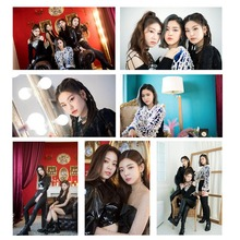 25Pcs/Set High Quality Kpop ITZY Photocard Photo Card PVC Crystal Card Stickers For Bus Student Card Stationery Set 18pcs set kpop mamamoo reality in black album melting photo version for student card bus pvc crystal card