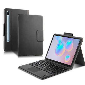 For Samsung Galaxy Tab S6 10.5 SM-T860 T865 T867 Case with English Keyboard Touchpad PU Leather Tablet Protector Cover Keyboard