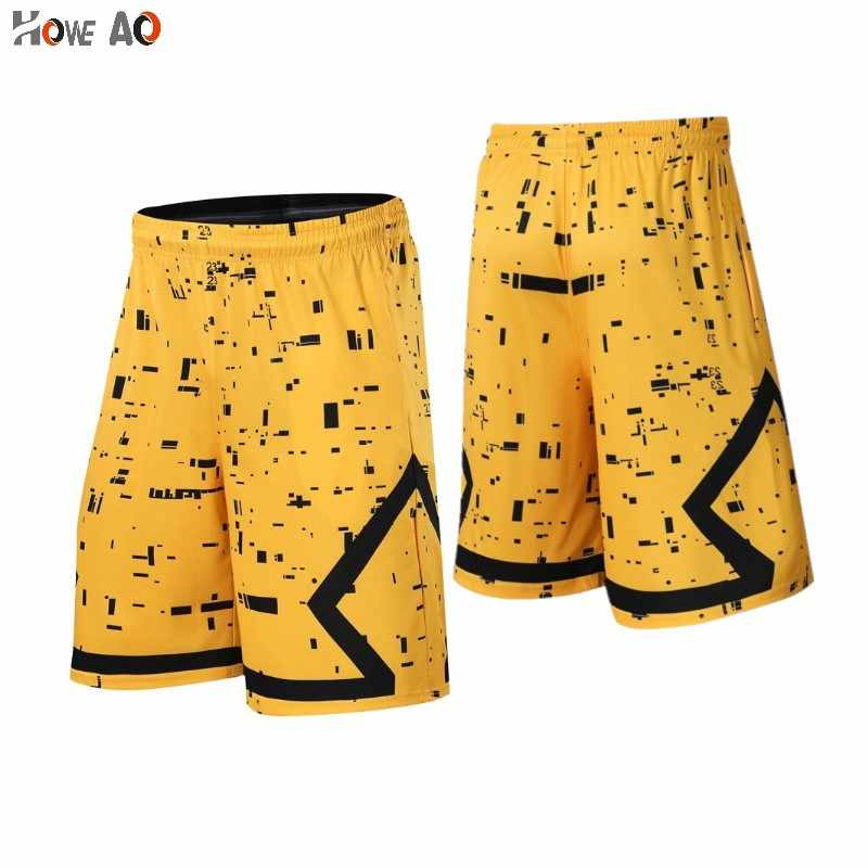 HOWE AO Basketball Shorts for Men Outdoor Sports Fitness Short Pants Quick-dry Breathable Running Training Loose Tennis Shorts