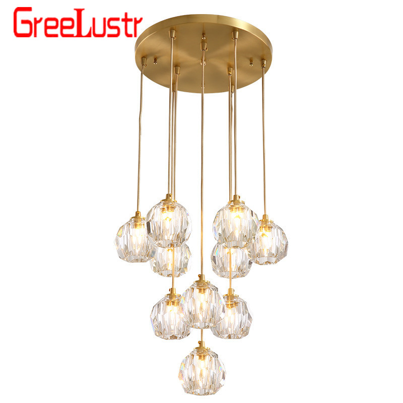Luxury Crystal Ball Led Chandelier Lighting Decorative Chandelier G9 Led For Living Room Indoor Lights Fixture Hanging Lamps