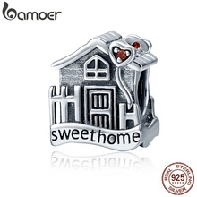 Charms Fit-Bracelets BAMOER 100%925-Sterling-Silver Home Fine-Jewelry DIY New Sweet Fashion