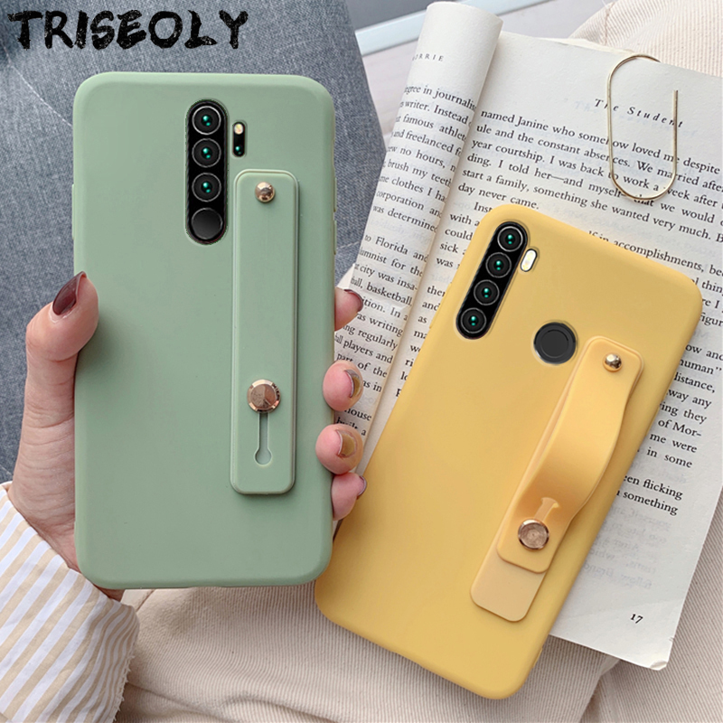 Wrist Strap Hand Band Silicone Case For Xiaomi Redmi Note 8 Pro 8T 7 7A 8A K20 K30 5 6 Pro 8 T 6A K 30 Matte Soft TPU Back Cover