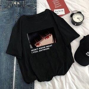 Summer Vintage Casual Fashion Women Punk Streetwear Loose Goth Letter Print Harajuku tees Cartoon Japanese Ins T-Shirt