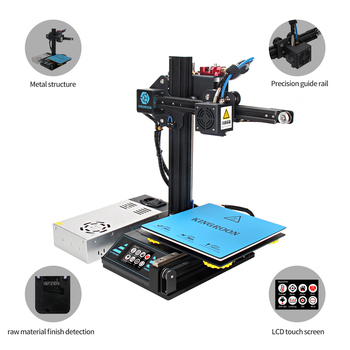 3D Printer 3d printing KP3 impresora 3d Upgraded High Precision Magnetic Plate Resume Printing DIY Kit 180x180x180mm Desktop 1