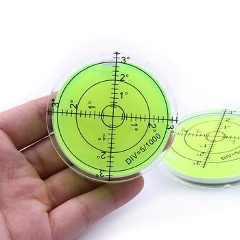 Uniwersalny zielony okrągły poziomica pęcherzykowa Bullseye poziomica Bubble okrągły poziomica pęcherzykowa pomiar poziomu instrumenty narzędzie 60X12mm