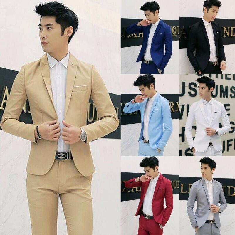 Brand New Men Classic Formal Business Suit Blazer Slim Fit Luxury Coat Jacket Male Single Button Plain Long Sleeve Blazers Coat