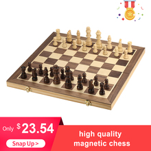 High quality New Foldable Wooden Chess Set Table Board Educational Magnetic Adults  International Entertainment Game