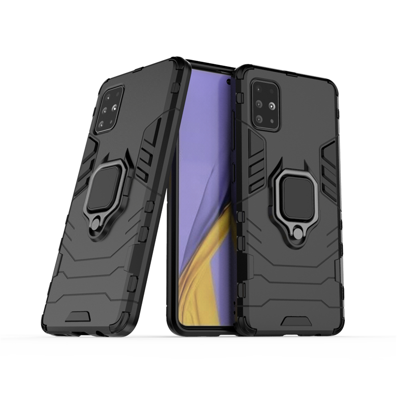 For Samsung Galaxy A51 Case Cover For Samsung A51 Phone Case Finger Ring Shell Hard Armor Protective Case For Samsung Galaxy A51
