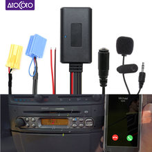 Bluetooth Wireless Micro Phone Call Handsfree Cable AUX Adapter for Smart Fortwo 450 451 Roadster Radio CD 6 8 Pin MINI ISO Plug