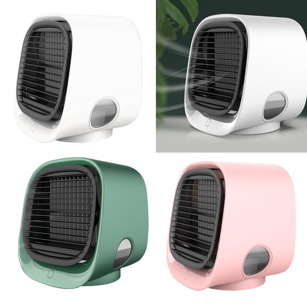<font><b>Mini</b></font> <font><b>Portable</b></font> <font><b>Air</b></font> Conditioner Fan Desk Table Humidifier Purifier USB Desktop <font><b>Air</b></font> <font><b>Cooler</b></font> Fan with Water Tank for Room Home Office image