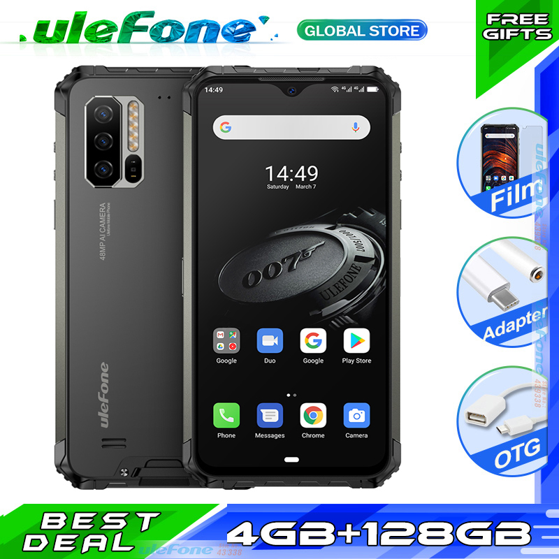 Ulefone Armor 7E Waterproof Phone 4GB+128GB Helio P90 Rugged Mobile Phone Android 9.0 Octa Core NFC 48MP 4G Global Version(China)