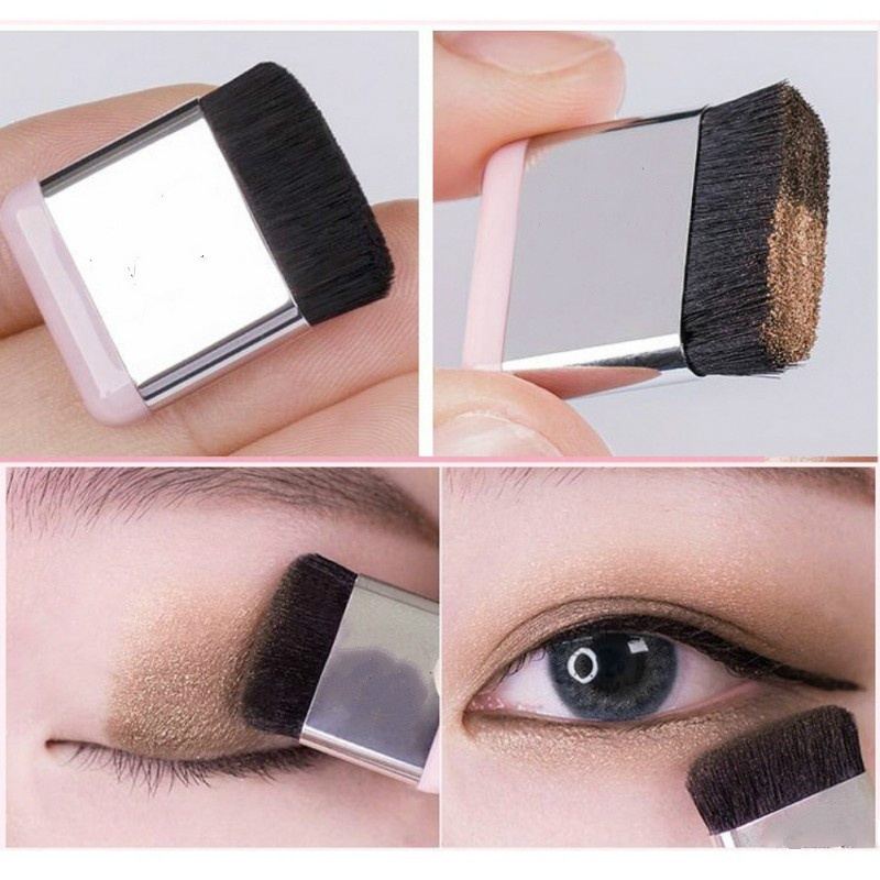 Hot 2 Color Gradient Eye Shadow Imagic Pigment Palette Glitter Eye Shadow With Brush Non blooming Waterproof Sombra in Eye Shadow from Beauty Health
