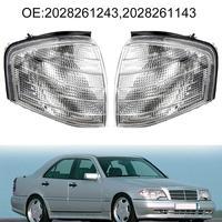 1 Pair Corner Lights Turn Signal Lamps for Mercedes B enz C Class W202 1994 2000 carros наклейки на авто автотовары Accessories