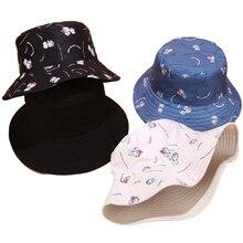 Хлопковая Двусторонняя шляпа-ведро с принтом, шляпа рыбака, шапка для путешествий на открытом воздухе, Кепка От Солнца, шапки для женщин, Повседневная пляжная шляпа от солнца