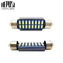 цена на 2x C5W LED Car Interior Light Canbus Festoon 28mm 31mm 36mm 39mm 42mm LED Bulbs White ice blue Dome Reading Light Auto Lamp 12V