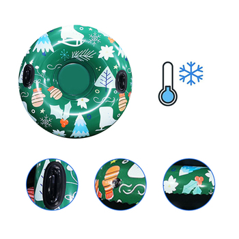 Snow Toy Winter Inflatable Ski Circle Ski Circle With Handle Durable Children Adult Snow Tube Skiing Thickened Floated Sled image