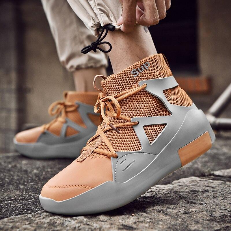 Automne chaussette chaussures de course pour hommes haut haut Sneaker hommes épais semelle concepteur hommes Jogging chaussures respirant marche baskets hommes
