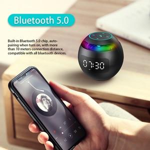 Image 5 - מיני Caixa דה סום Portatil Bluetooth רמקול FM רדיו שעון מעורר LED 2000mAh Altavoces Parlante נייד מוסיקה Boombox מתנה רמקול בלוטוס רמקולים רמקול נייד