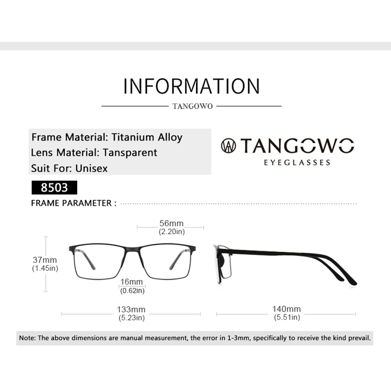 Image 4 - Glasses Frame Men Prescription Glasses Blue Light Glasses Myopia Glasses Square Metal Eyeglasses Men Computer Glasses 2020Mens Eyewear Frames   -