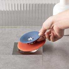 Sink Strainer Pressing Non-slip Sewer Hair Catcher TPR Kitchen Bathroom Drain Stopper 2021 new