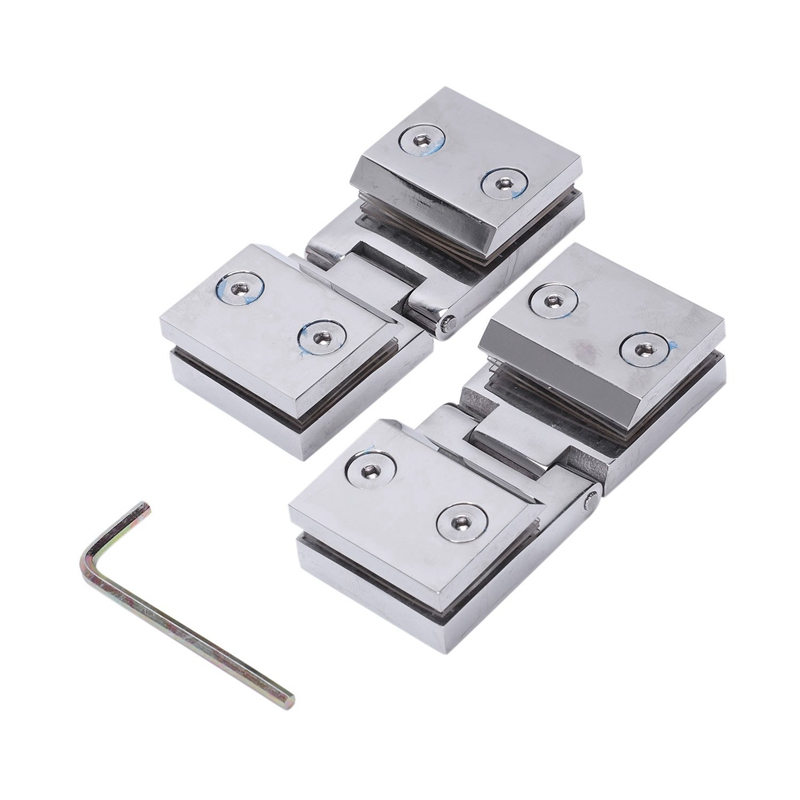 90 Double Sided Clip Home Easy To Install Glass Clips Practical Durable Cabinet Door Hinges For Bathroom Furniture|Door Hinges| |  - title=