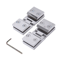 90 Double Sided Clip Home Easy To Install Glass Clips Practical Durable Cabinet Door Hinges For Bathroom Furniture|Door Hinges| |  -