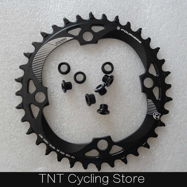Fouriers CR-CBE-104 MTB Sepeda Chainring 104 BCD PCD 104 Round Mountain Sepeda Crankset Chainwheel 34T 38T 40T 42T
