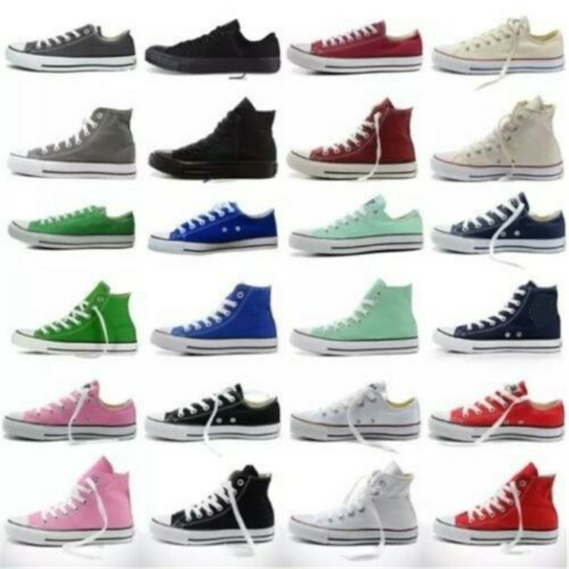 2020 Men And Women Hot Sale Dames Chuck-Taylor Aylor All Star Lage Ox Hoge Top Women's Sneakers Canvas Schoenen Casual Shoes