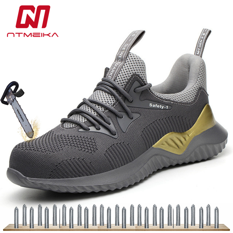 Breathable Men Safety Shoes Steel Toe Fashion Work Shoes Outdoor Work Boots Men MB295