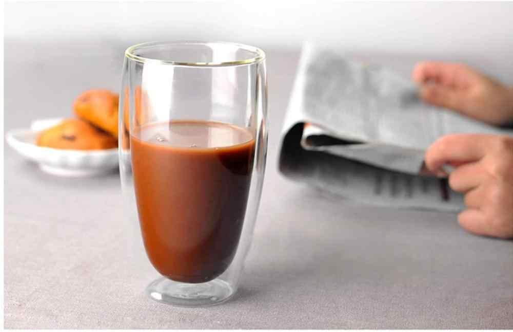 Borosilikat Doppelwandige Kaffee/Tee/getränke Gläser Tasse Erschossen Glas-Doppel Wand Isoliert Latte Glas Espresso Kaffee Becher