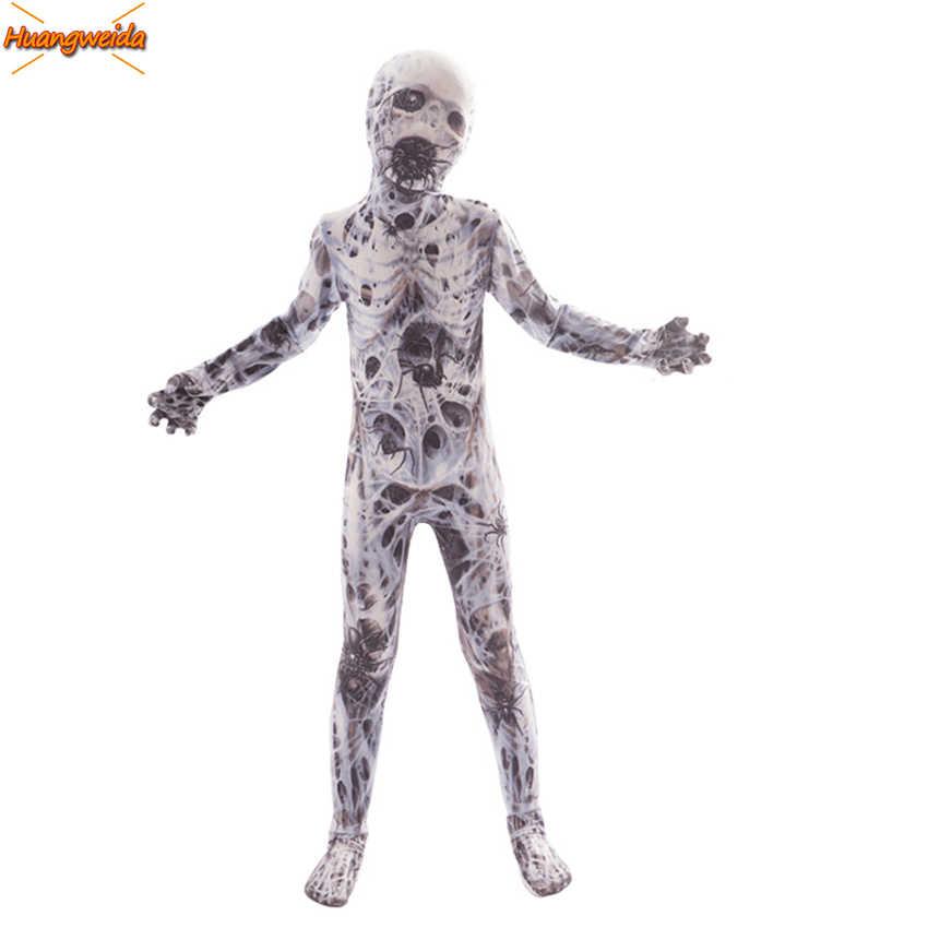 Horror fantasma aranha assustador traje halloween crianças trajes de halloween para crianças fantasia vestido assustador demônio purim fantasias cosplay