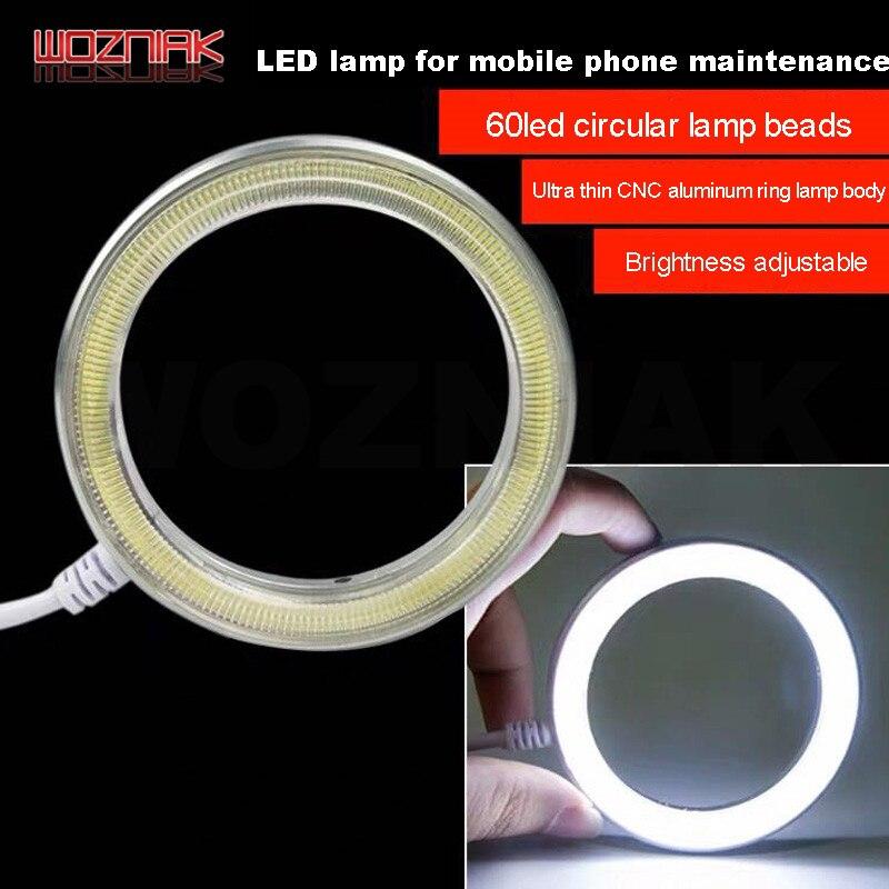 Kaisi Ultrathin 60 LED Adjustable Ring Light Illuminator Lamp For STEREO ZOOM Microscope USB Plug Maintenance Welding Spot Light