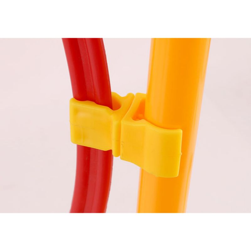 Football Rod Clip Stable Texture Eco-Friendly Soccer Pipe Ring Sign Pole Sports Training Accessories Clip Tube Clamp Rotatable