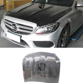 W205 AMG Style High Quality Carbon Fiber Hood Engine Bonnet Car Styling For Mercedes-Benz W205 Car Body Kit 14-18