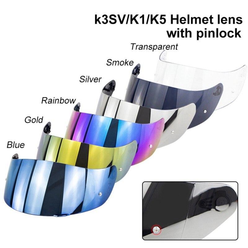 Мотоцикл забрало шлема козырек для K1 & K5 & K3SV полный уход за кожей лица части Оригинальные очки мотоциклетный шлем объектив с отверстием Pinlock