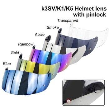 Motorcycle Helmet Shield Visor For K1&K5&K3SV Full Face Parts Original Glasses Motorbike helmet lens with Pinlock hole silvering visor full face dual visor motorcycle helmet